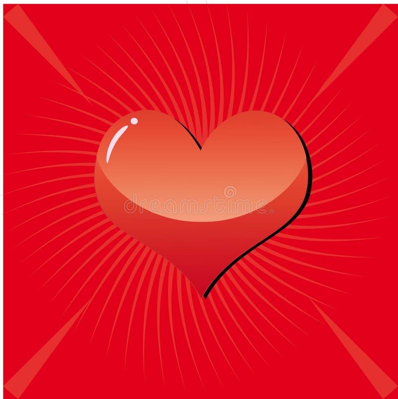 Fond 3 de Valentine illustration stock