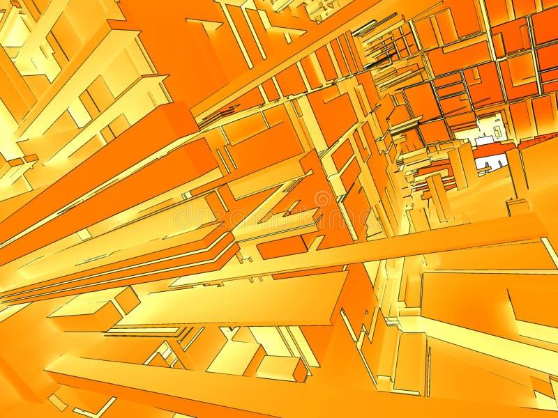 Fond 3d abstrait illustration libre de droits