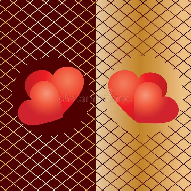 Fond 5 de Valentine illustration libre de droits