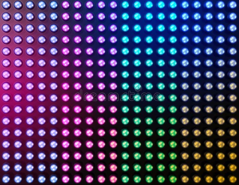 Fond abouti d'effet de la lumière illustration stock