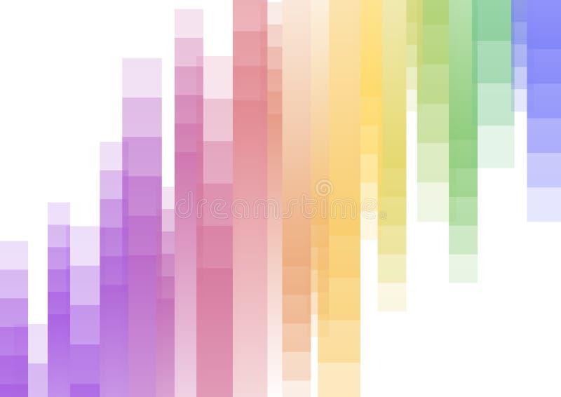 Fond abstrait à l'envers de pixel de vitesse d'arc-en-ciel illustration stock
