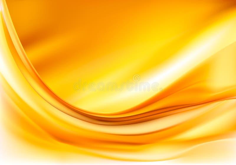 Fond abstrait élégant d'or illustration de vecteur