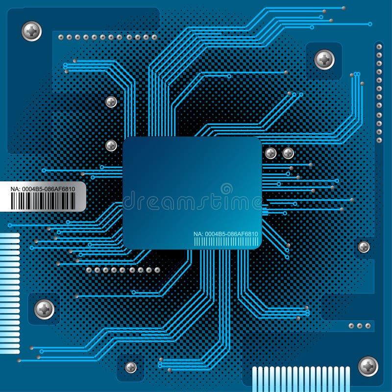 fond abstrait électronique illustration de vecteur