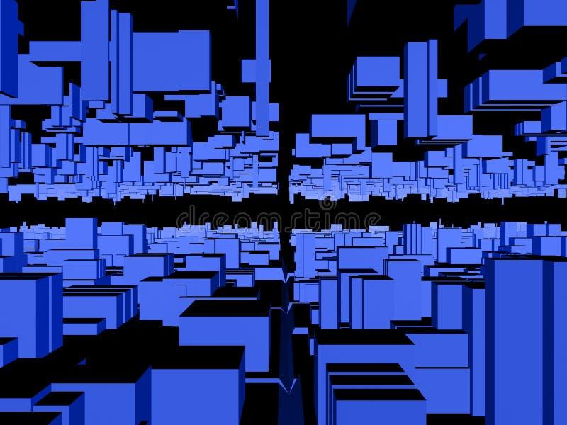 Fond abstrait #1 de ville illustration libre de droits
