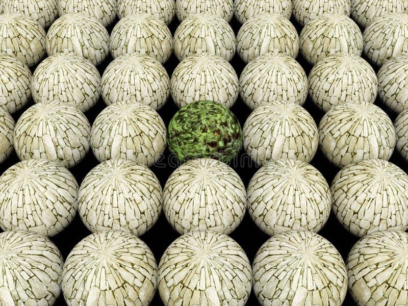 Fond abstrait 2 de nature de sphère illustration de vecteur