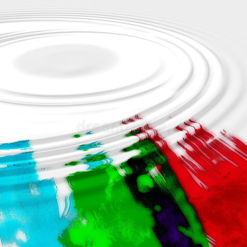 Fond abstrait aqueux illustration stock