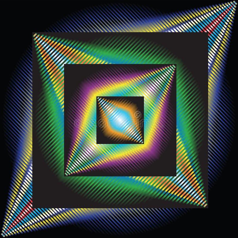 Fond abstrait, art optique illustration de vecteur