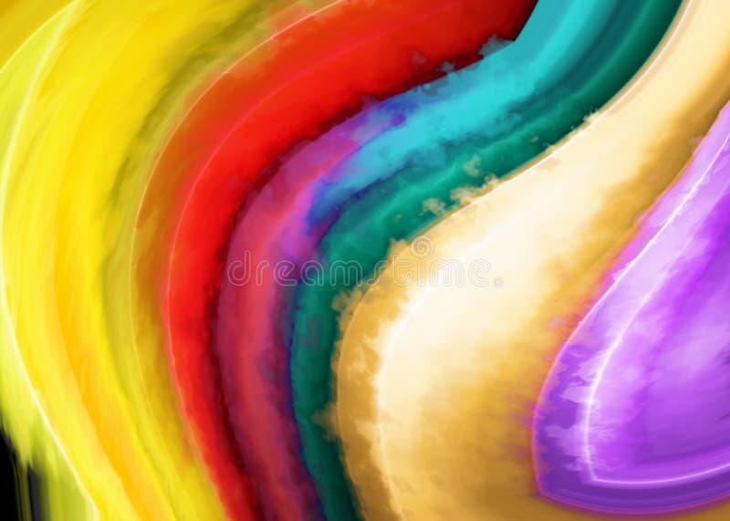 Fond abstrait avec des bandes de couleur illustration libre de droits