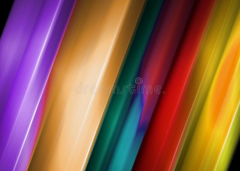 Fond abstrait avec des bandes de couleur illustration de vecteur