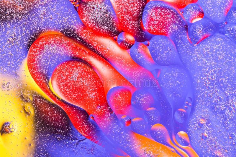 Fond abstrait avec des bulles de l'eau Macro tir d'air ou de molécule Cellule, fond de texture de membrane photographie stock libre de droits