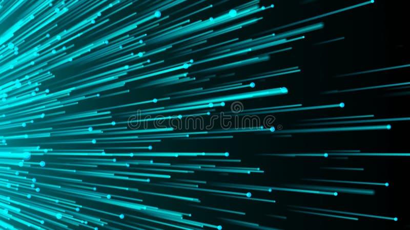 Fond abstrait avec des fibres optiques illustration de vecteur