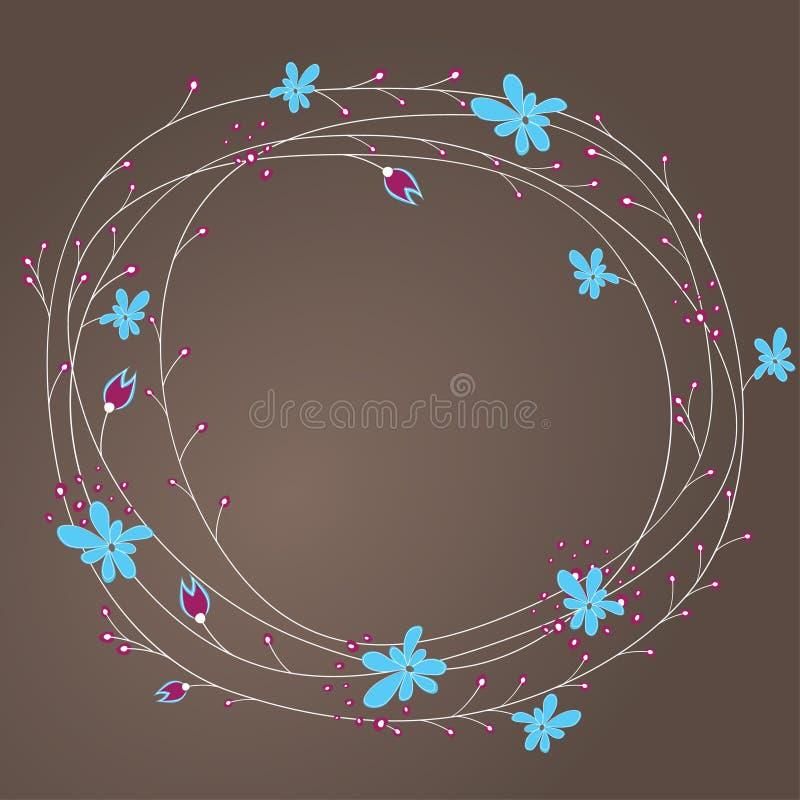 Fond abstrait avec des fleurs. illustration stock