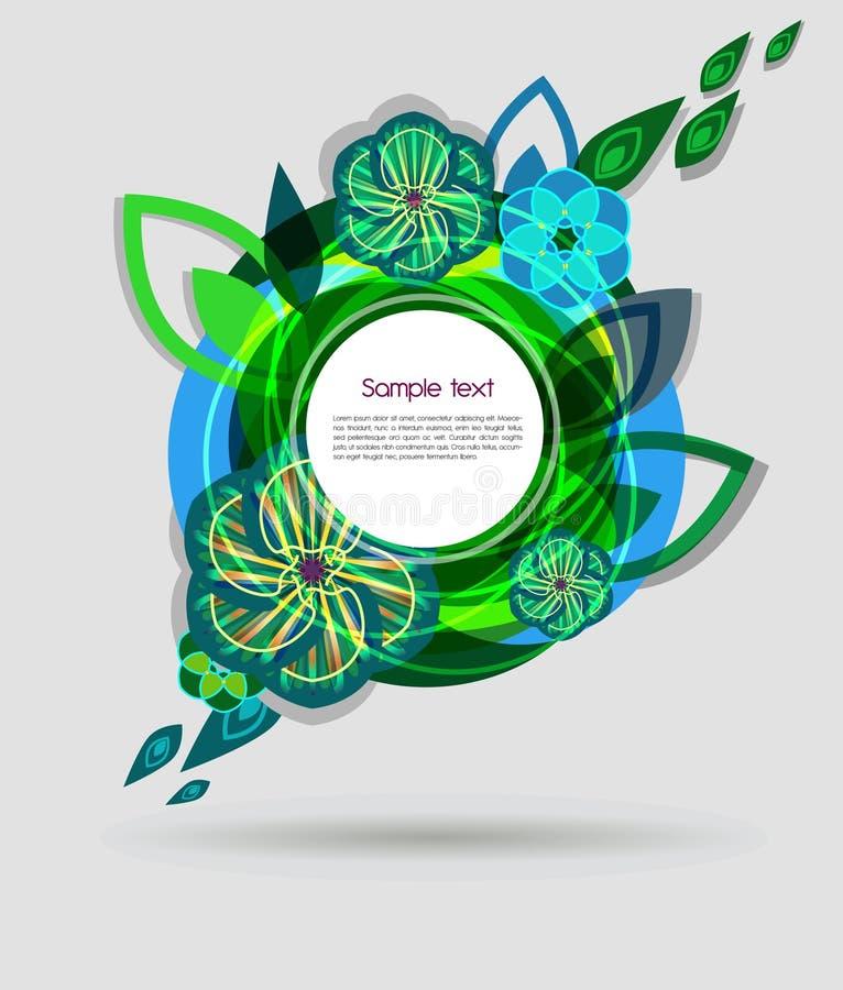 Fond abstrait avec des fleurs illustration libre de droits