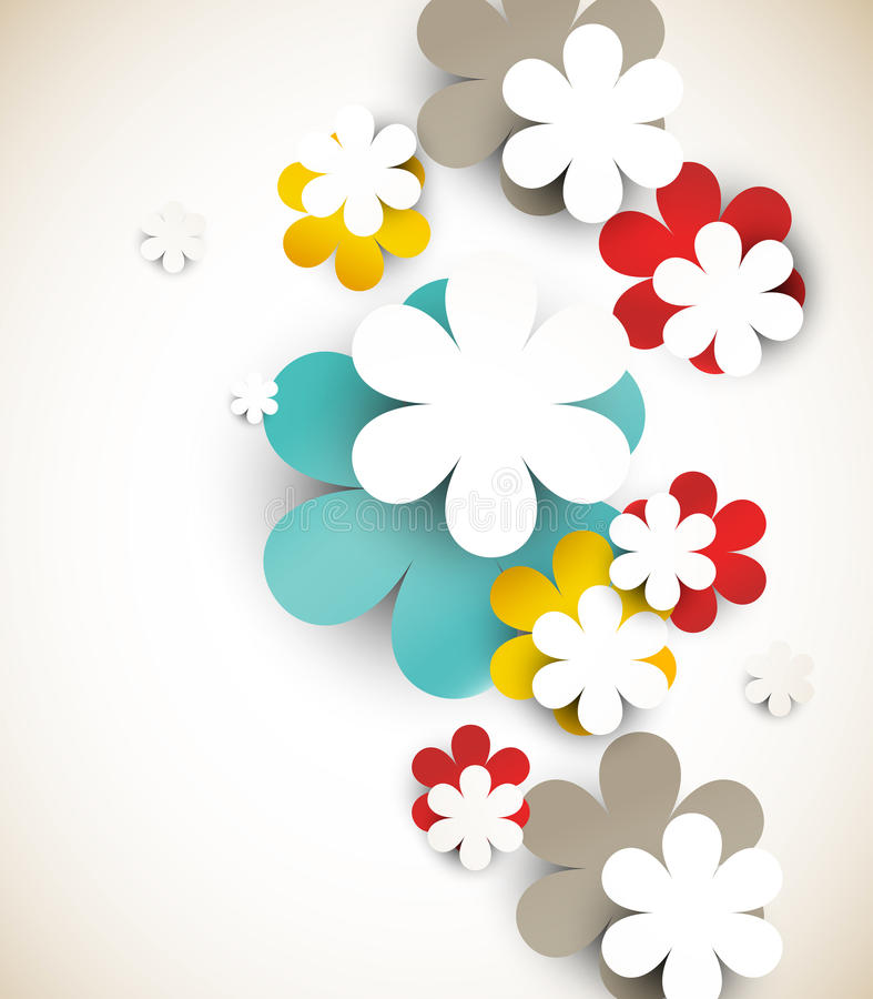 Fond abstrait avec des fleurs illustration stock