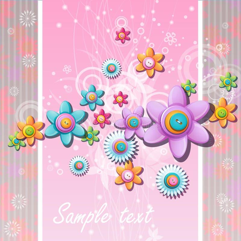 Fond abstrait avec des fleurs et des boutons illustration libre de droits
