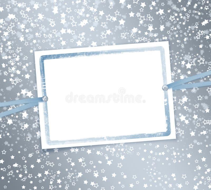 Fond abstrait avec des flocons de neige, étoiles illustration de vecteur