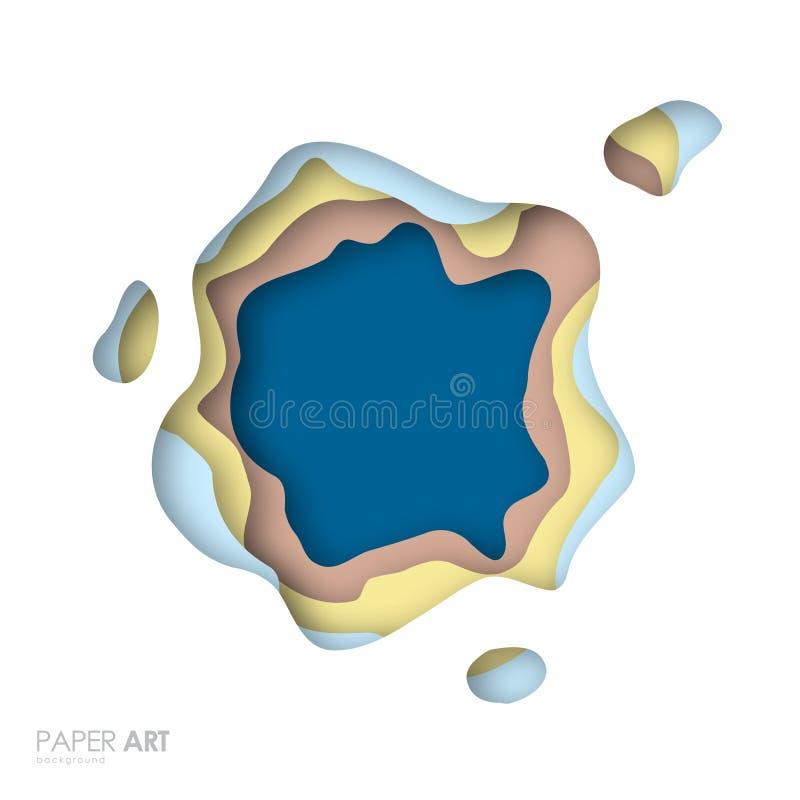 Fond abstrait avec des formes multicolores de coupe de papier illustration libre de droits