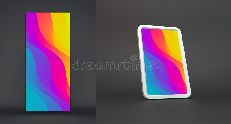 Fond abstrait avec des gradients ? la mode Illustration de vecteur pour la couverture et l'?cran de t?l?phone portable illustration de vecteur