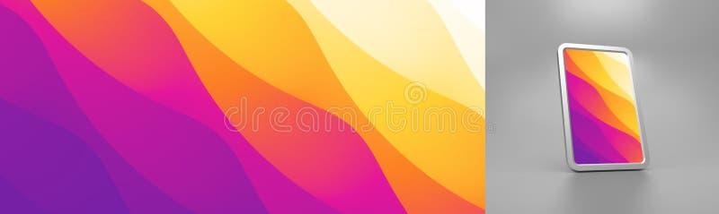 Fond abstrait avec des gradients ? la mode Illustration de vecteur pour la couverture et l'?cran de t?l?phone portable illustration stock