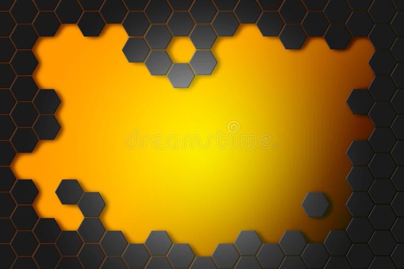 Fond abstrait avec des hexagones illustration stock