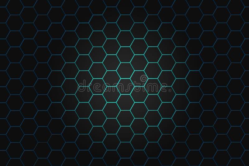 Fond abstrait avec des hexagones Technologie numérique de pointe illustration stock