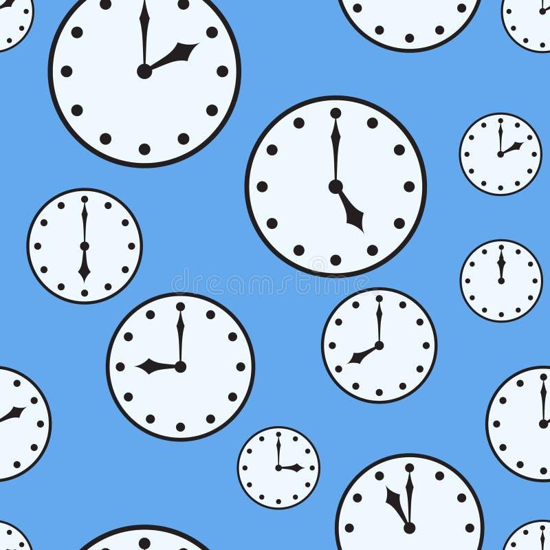 Fond abstrait avec des horloges de bureau illustration stock