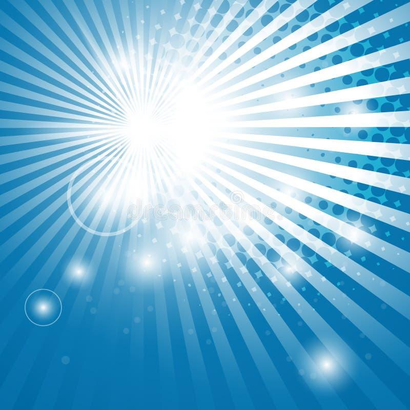 Fond abstrait avec des rayons du soleil illustration de vecteur