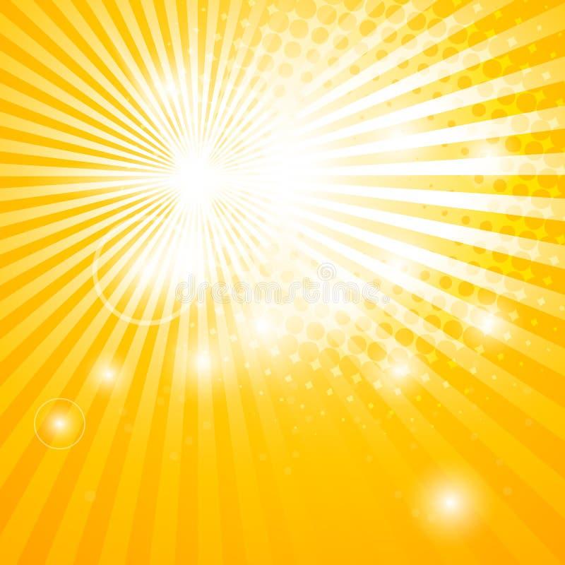 Fond abstrait avec des rayons du soleil illustration stock