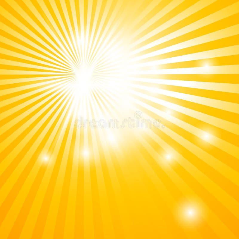 Fond abstrait avec des rayons du soleil illustration libre de droits