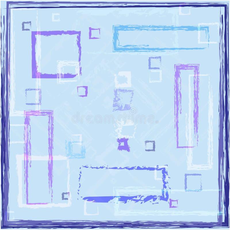 Fond abstrait avec des rectangles illustration libre de droits