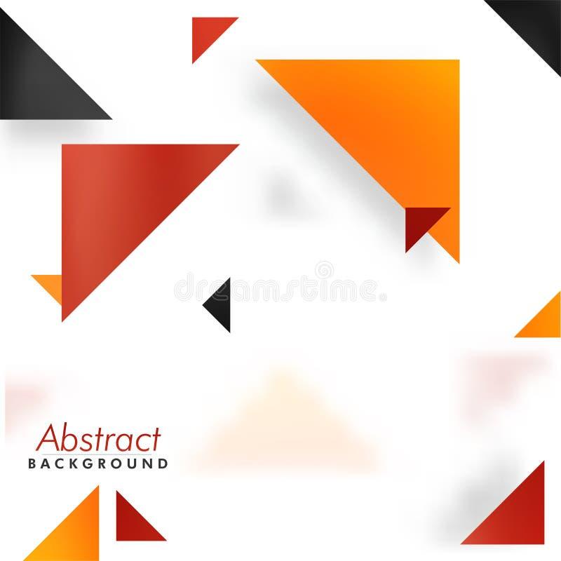 Fond abstrait avec des triangles, concept abstrait illustration stock