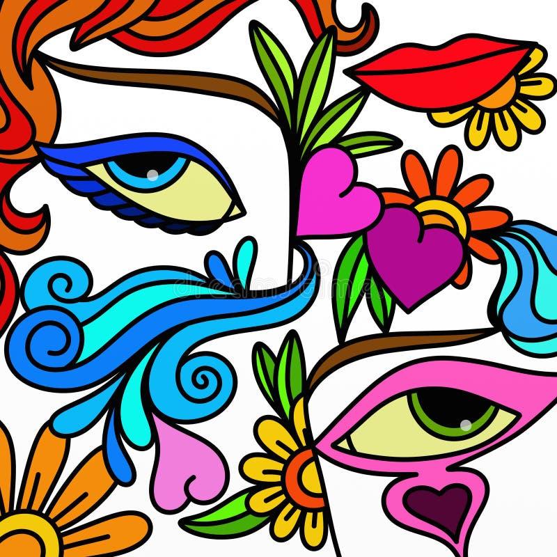 Deux yeux illustration de vecteur