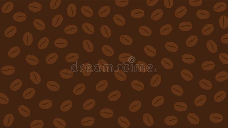 Fond abstrait avec du café Bean Pattern illustration de vecteur