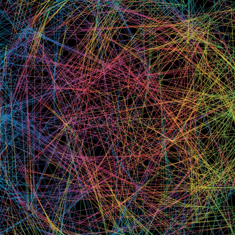 Fond abstrait avec intersecter les lignes colorées Bleu, gree illustration de vecteur