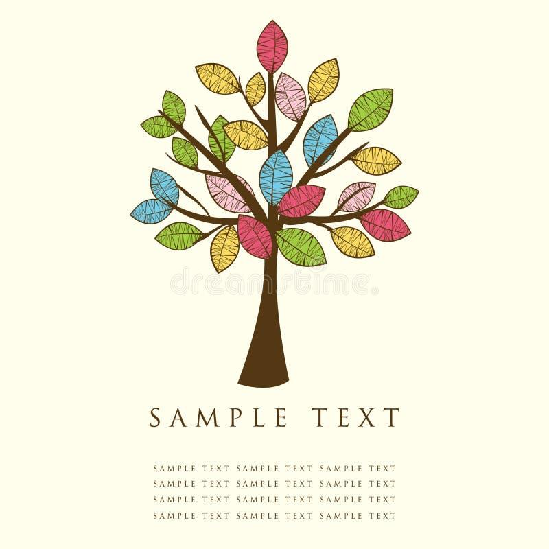 Fond abstrait avec l'arbre. illustration libre de droits