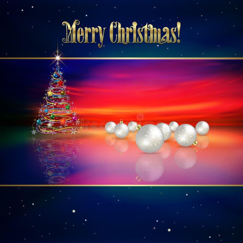 Fond abstrait avec l'arbre de Noël illustration libre de droits