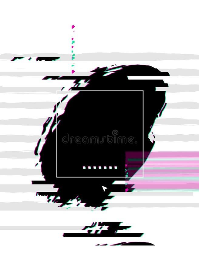 Fond abstrait avec l'effet de problème Composition en conception moderne constituée par les taches artistiques illustration de vecteur