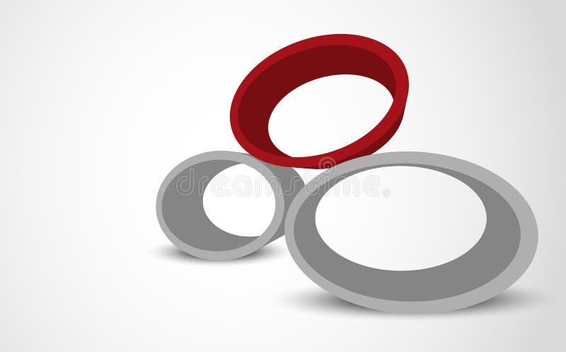Fond abstrait avec l'ellipse illustration libre de droits