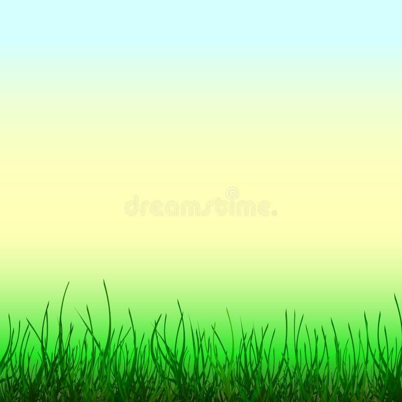Fond abstrait avec l'herbe verte illustration libre de droits
