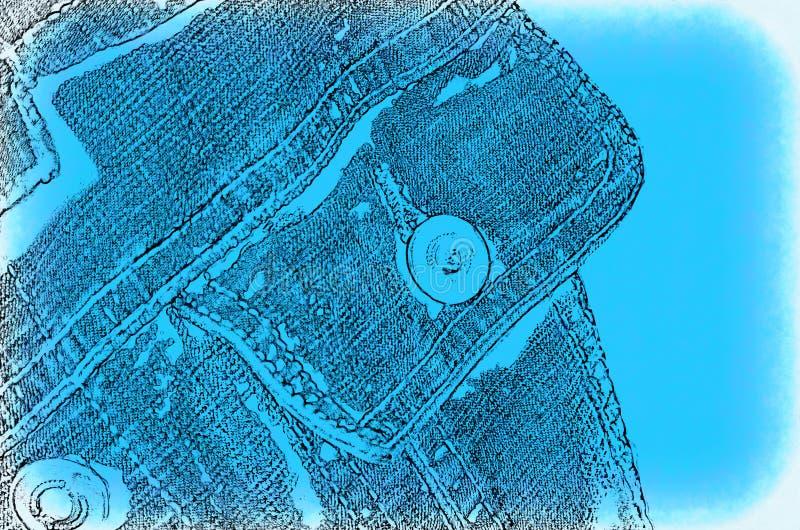Fond abstrait avec l'image de la veste de jeans de poche illustration de vecteur