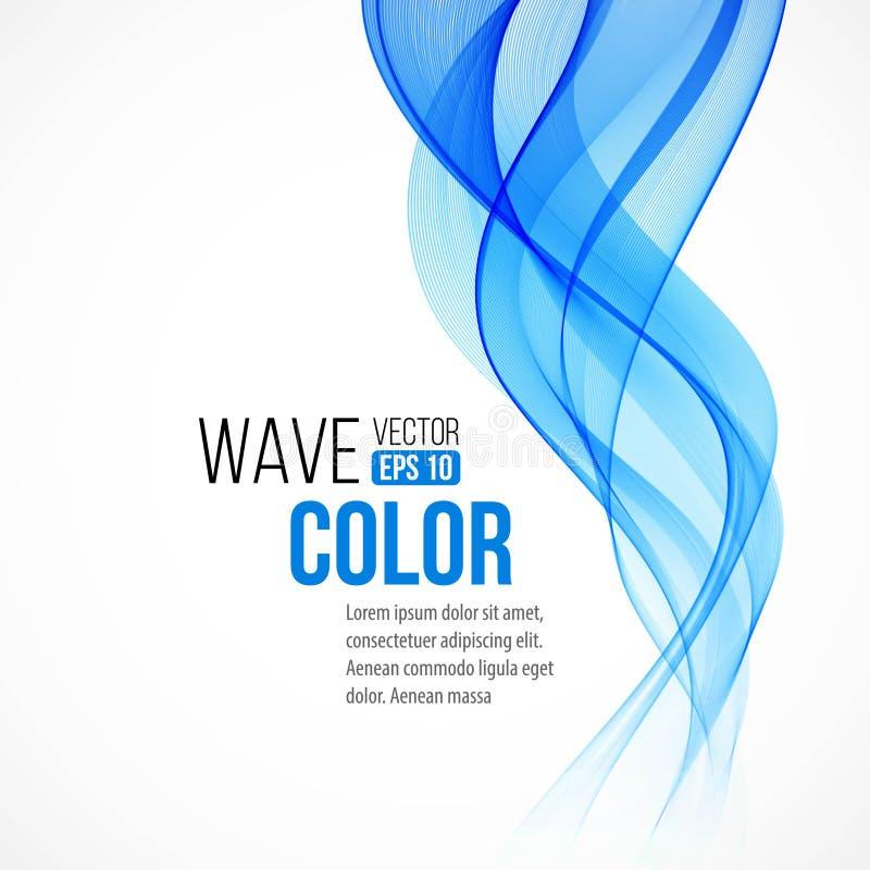 Fond abstrait avec l'onde bleue Vecteur illustration stock