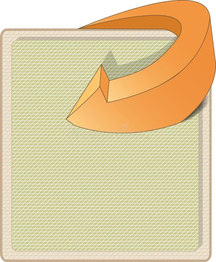 Fond abstrait avec la flèche illustration de vecteur