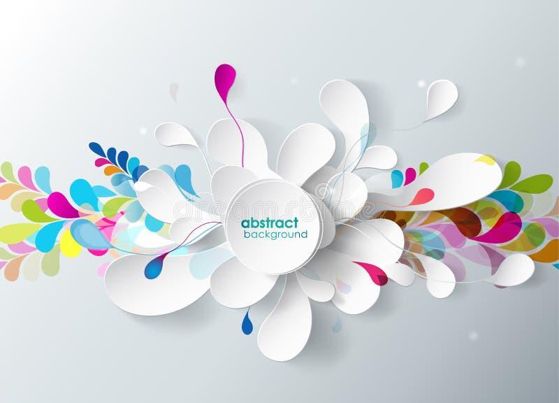 Fond abstrait avec la fleur de papier. illustration libre de droits
