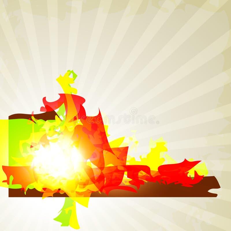 Fond abstrait avec la forme colorée lumineuse illustration de vecteur