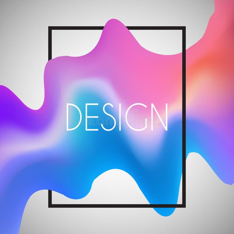 Fond abstrait avec la forme 3D dans le cadre blanc illustration de vecteur