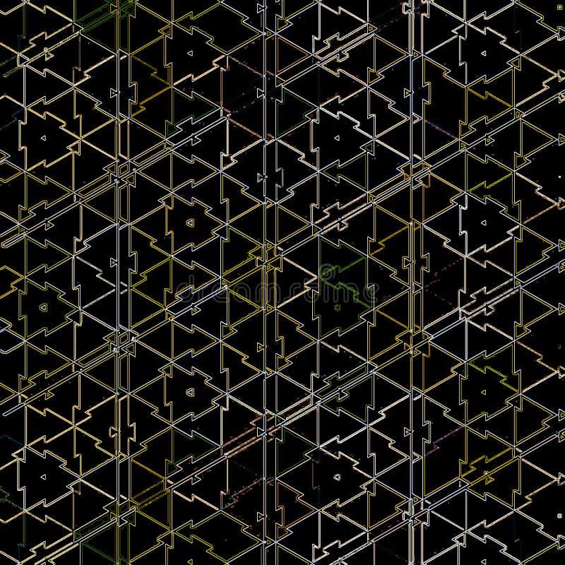 Fond abstrait avec la grille texturisé par les triangles colorées illustration de vecteur