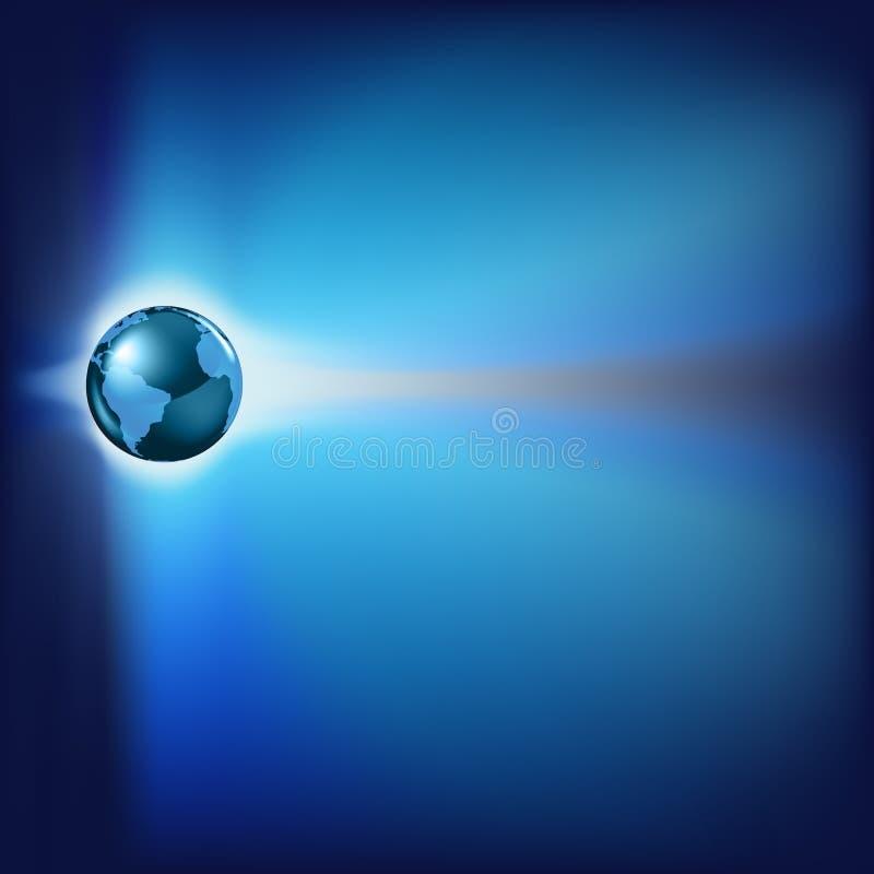 Fond abstrait avec la terre de planète illustration libre de droits