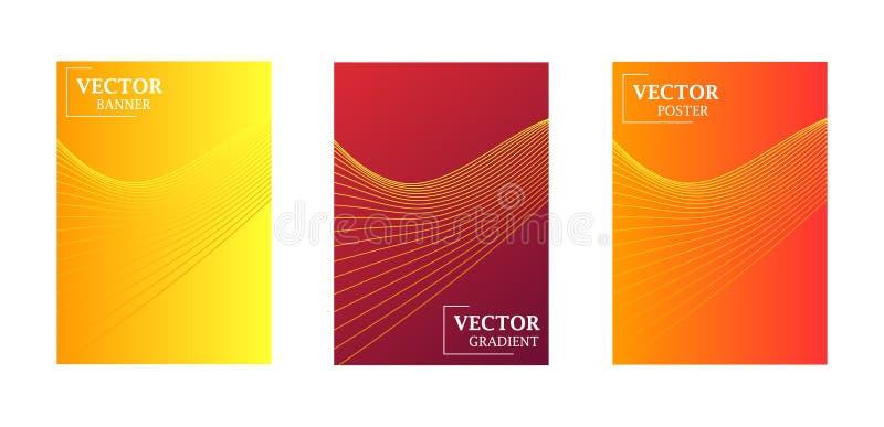 Fond abstrait avec la texture de gradient, modèle géométrique avec des lignes Gradient d'or, rouge, violet illustration libre de droits