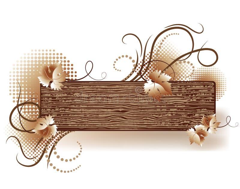 Fond abstrait avec la texture en bois illustration de vecteur