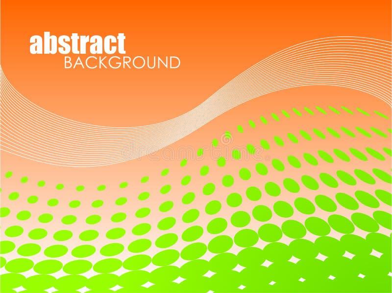 Fond abstrait avec le cercle vert illustration stock